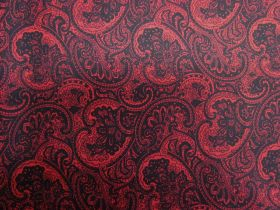 Great value Princely Paisley Cotton- Red PW1284 available to order online Australia