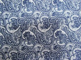 Great value Princely Paisley Cotton- Navy PW1288 available to order online Australia