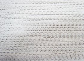 Great value 11mm Cotton Lace Edge Trim- White #534 available to order online Australia