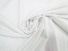 Great value Sheer Stripe Spandex- White #4060 available to order online Australia