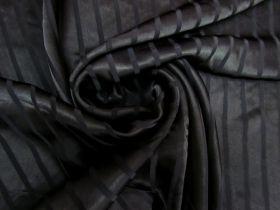 Great value Satin Stripe Viscose- Black #5491 available to order online Australia