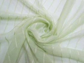 Great value Delicate Stripe Silk Georgette- Soothing Green #5497 available to order online Australia