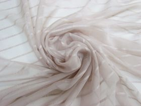 Great value Delicate Stripe Silk Georgette- Soft Beige #5498 available to order online Australia