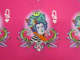 Great value Tula Pink Curiouser And Curiouser- The Red Queen 20cm Panel- Daydream #160 available to order online Australia