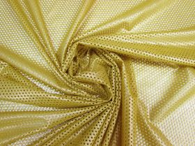 Great value Stretch Eyelet Mesh- Luxe Gold #5531 available to order online Australia