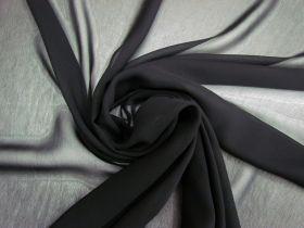 Great value Super Fine Viscose Georgette- Nightfall Black #4153 available to order online Australia
