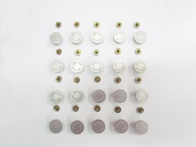 Great value 17mm Stud Jeans Button Pack- Branded Silver RW329 - 20 for $6 available to order online Australia