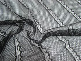 Great value Delicate Wave Lines Lace- Black available to order online Australia