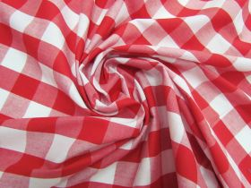 Great value 25mm Gingham Cotton- Red #5559 available to order online Australia