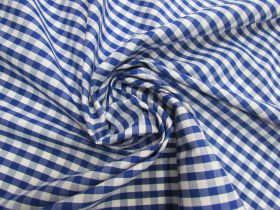 Great value 6mm Gingham Cotton- Royal Blue #5561 available to order online Australia