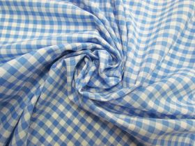 Great value 6mm Gingham Cotton- Sky Blue #5563 available to order online Australia