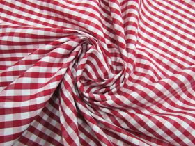Great value 6mm Gingham Cotton- Red #5565 available to order online Australia