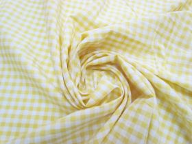 Great value 6mm Gingham Cotton- Yellow #5566 available to order online Australia