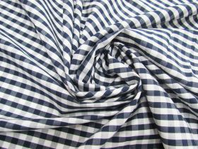 Great value 6mm Gingham Cotton- Navy #5567 available to order online Australia