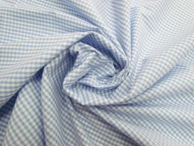 Great value 3mm Gingham Cotton- Baby Blue #5570 available to order online Australia