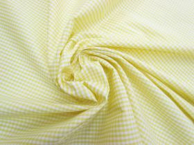 Great value 3mm Gingham Cotton- Yellow #5574 available to order online Australia