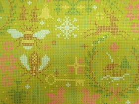 Great value Alison Glass- Holiday- Crossed in Olive available to order online Australia