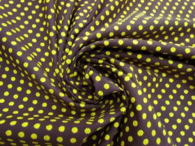 Great value Embroidered Spot Cotton- Choc Banana #5591 available to order online Australia