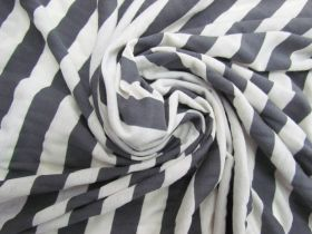 Great value Soft Feel Cotton Blend Jersey- Grey Stripe #5640 available to order online Australia
