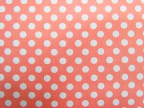 Great value Spot Cotton- White on Peach #4262 available to order online Australia
