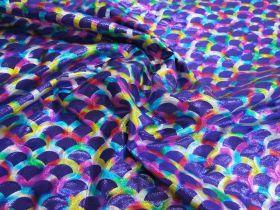 Great value Rainbow Mermaid Foile Spandex- Purple available to order online Australia