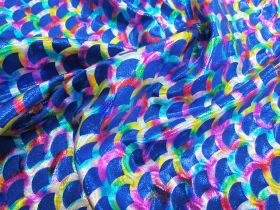 Great value Rainbow Mermaid Foile Spandex- Royal available to order online Australia