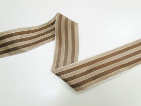 Great value 63mm Royal Taffeta Wide Stripe Ribbon- Brown/Latte available to order online Australia