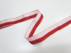 Great value 25mm Nutcracker Two Tone Ribbon- Pink/Red available to order online Australia