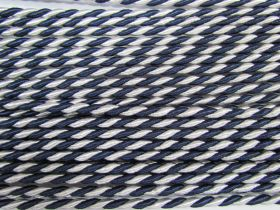Great value 6mm Twisted Shiny Cord- Navy/White #556 available to order online Australia