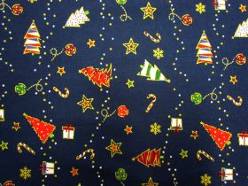 Great value Festive Cheer Cotton- Navy #5726 available to order online Australia
