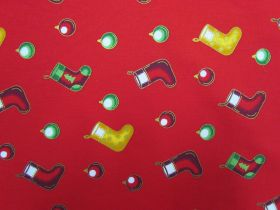 Great value Deck The Halls Cotton- Red #5727 available to order online Australia