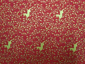 Great value Golden Reindeer Cotton- Red #5732 available to order online Australia