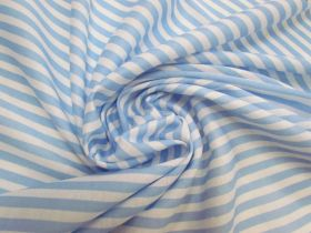 Great value Soft Interlock Jersey- Baby Blue Stripe #5756 available to order online Australia