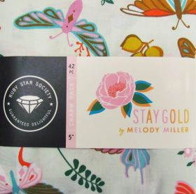 Great value Ruby Star Society- Stay Gold Charm Pack available to order online Australia