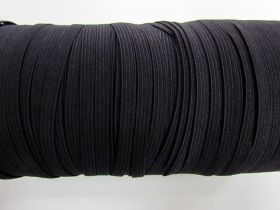 Great value Roll of 6mm Braided Elastic- Black #1001F available to order online Australia