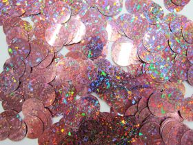 Great value 24gm Sequin Pack- Holographic Dusty Pink- 20mm #015 available to order online Australia