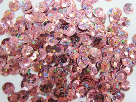 Great value 24gm Sequin Pack- Holographic Dusty Pink- 10mm #017 available to order online Australia
