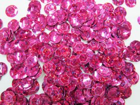 Great value 24gm Sequin Pack- Holographic Pink- 12mm #020 available to order online Australia