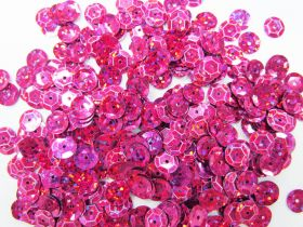 Great value 24gm Sequin Pack- Holographic Pink- 8mm #022 available to order online Australia