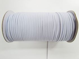 Great value Roll of 3mm Braided Elastic- White #1006F available to order online Australia