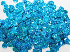 Great value 24gm Sequin Pack- Holographic Blue- 10mm #034 available to order online Australia
