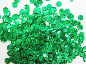Great value 24gm Sequin Pack- Holographic Emerald- 8mm #036 available to order online Australia
