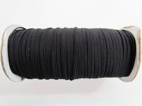 Great value Roll of 3mm Braided Elastic- Black #1007F available to order online Australia