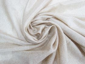 Great value ONE OFF Lightweight Silk- Chevron Wheat - 3.5m Remnant Piece CL1041 available to order online Australia