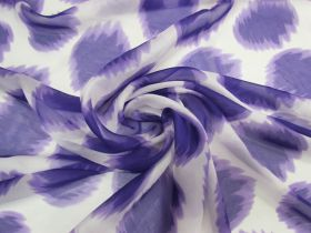 Great value ONE OFF Silk Chiffon- Purple Haze - 1.7m Remnant Piece CL1042 available to order online Australia