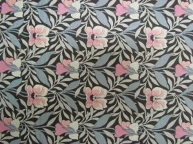 Great value Liberty Cotton- Harriet's Pansy- Pink/Grey- 0477548Y- The Hesketh House Collection available to order online Australia