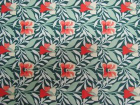 Great value Liberty Cotton- Harriet's Pansy- Green- 0477548Z- The Hesketh House Collection available to order online Australia