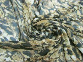 Great value Snakeskin Chiffon- Honey #5783 available to order online Australia