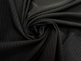 Great value Pinstripe Bengaline Suiting- Dark Slate #5788 available to order online Australia