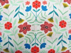 Great value Flower Kaleidoscope Cotton- White #PW1089 available to order online Australia